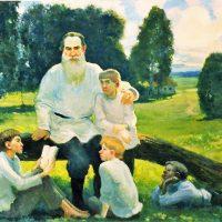 Лев Толстой с детьми